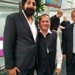 CEO of BritAsia TV, Tony Shergill, with Dr. Achyuta Samanta