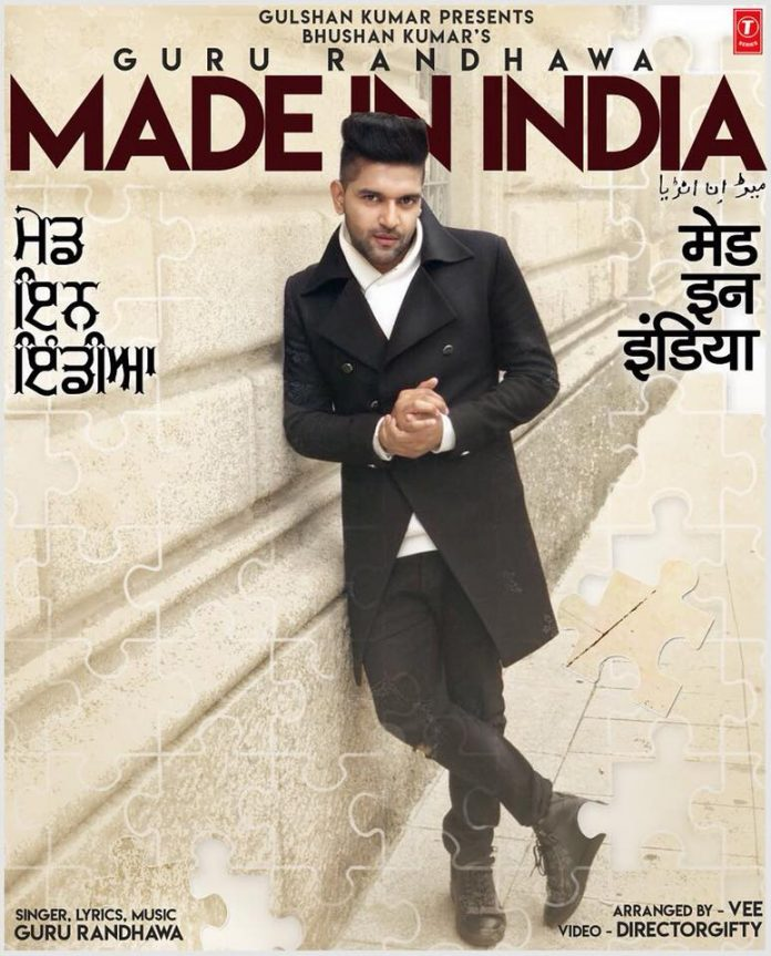 GURU RANDHAWA UNVEILS NEW POSTER FOR HIS LATEST TRACK