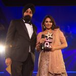 Mandy Takhar collects The Inspiration award