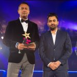 Sharry Mann and Sponser Kaspa's present the award for