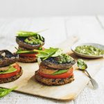 Veggie Burger Stacks with Parsley Pesto