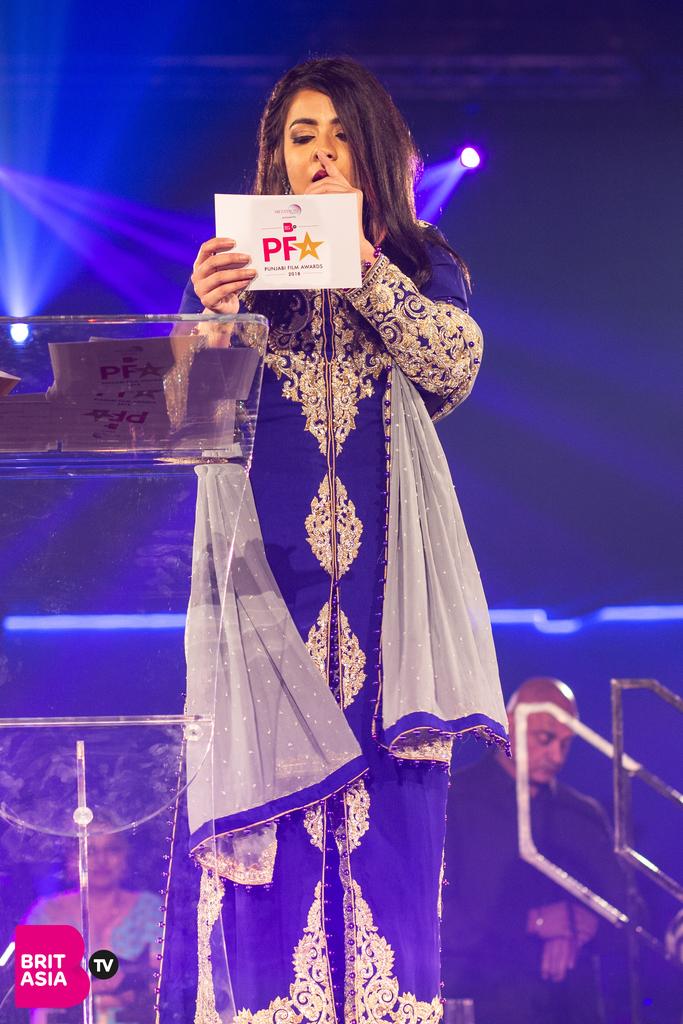 Jasmine Sandlas hosting at the PFA 2018