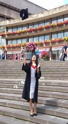 Anusha at her graduation