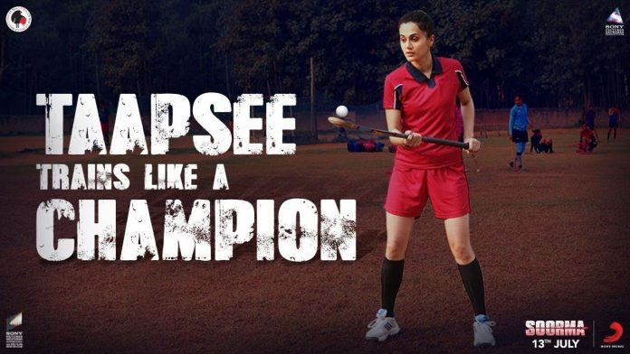 ACTRESS TAAPSEE PANNU SHARES BEHIND THE SCENES CLIPS OF 'SOORMA'