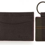 Barbour Grain Leather Card Holder & Tartan Keyring