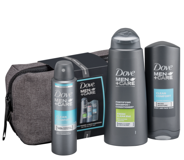 Dove Men + Care Ultimate Wash Bag Gift Set