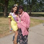 Anusha with Harrow Mayor, Kareema Marika