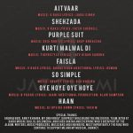Jaz Dhami 'pieces of me' track list