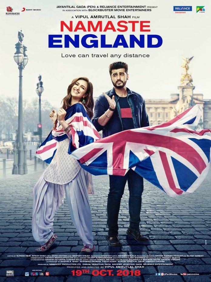 ARJUN KAPOOR AND PARINEETI CHOPRA SHARE THE POSTER FOR 'NAMASTE ENGLAND'