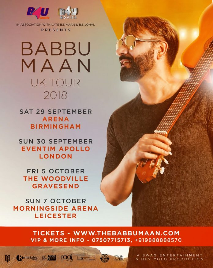 BABBU MAAN SET TO TOUR THE UK