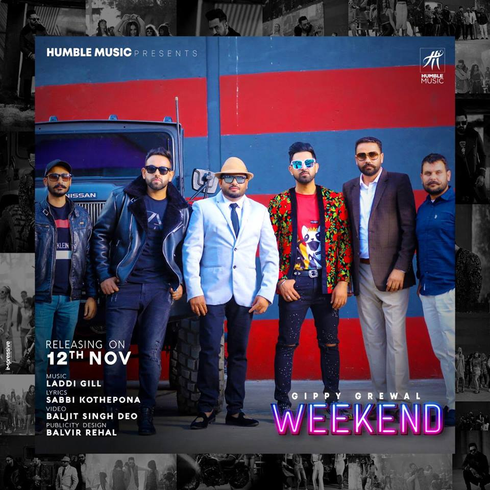 GIPPY GREWAL RELEASES A TEASER FOR HIS UPCOMING TRACK 'WEEKEND'