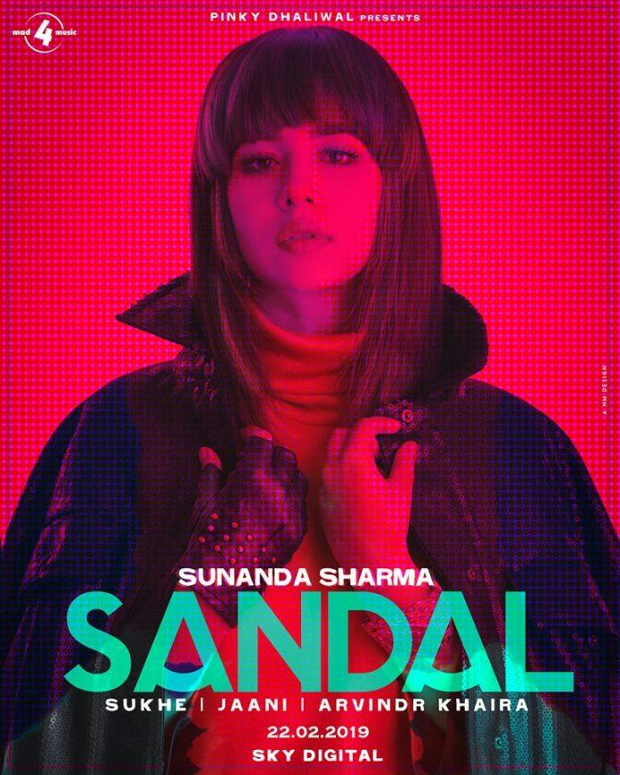 SUNANDA SHARMA ANNOUNCES HER NEXT SINGLE 'SANDAL'